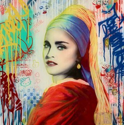 Material Girl by Srinjoy - Mixed Media sized 24x24 inches. Available from Whitewall Galleries